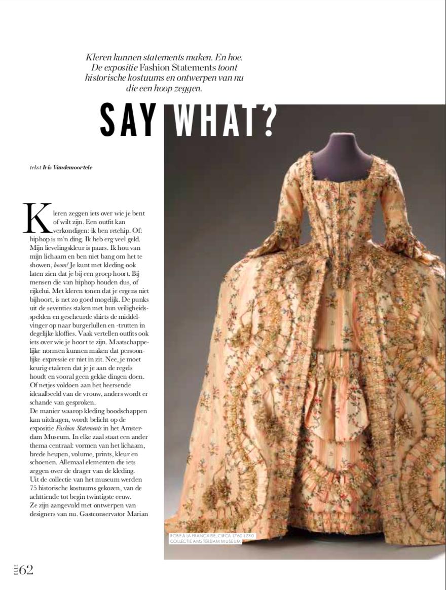 Fashion Statements in Vogue, Harper's Bazaar en Elle